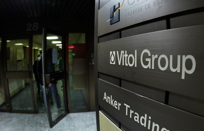 FILE PHOTO: A sign is pictured in front of Vitol Group trading commodities company building in Geneva