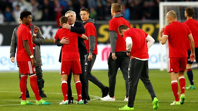 After securing his first trophy in German football, Carlo Ancelotti has thanked his Bayern Munich family for their support.