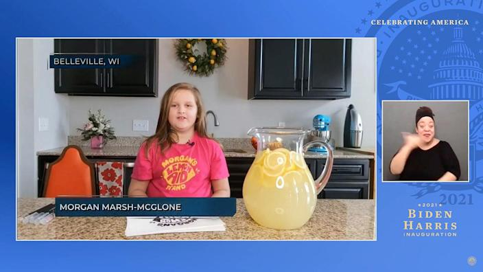 <p>Throughout the night, the primetime special highlighted Americans who have done their part to help during the pandemic, including organizations, volunteers and children who've stepped up to help feed others.</p> <p>Seven-year-old Morgan Marsh-McGlone from Belleville, Wisconsin, who raised over $50,000 money for charity through her virtual lemonade stand, was among those who were featured.</p>