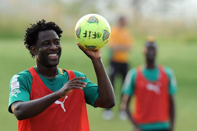 Ivory Coast's forward Wilfried Bony takes part in a training session in Rustenburg on February 1, 2013. Nigeria will play against Ivory Coast on February 3, 2013 in the 2013 African Cup of Nations tournament. AFP PHOTO / ALEXANDER JOEALEXANDER JOE/AFP/Getty Images