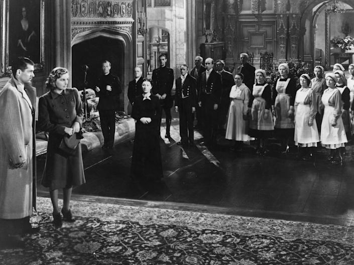 Joan Fontaine, Laurence Olivier, and Judith Anderson starred in Alfred Hitchcock's 1940 film Rebecca.