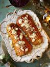 "<p>For vegans, replace goats cheese with a substitute, we like Violife Feta Style Non-Dairy Cheese Alternative.</p><p><strong>Recipe: <a href=""https://www.goodhousekeeping.com/uk/food/recipes/a25343610/hasselback-squash/"" rel=""nofollow noopener"" target=""_blank"" data-ylk=""slk:Hasselback Squash"" class=""link rapid-noclick-resp"">Hasselback Squash</a></strong></p>"