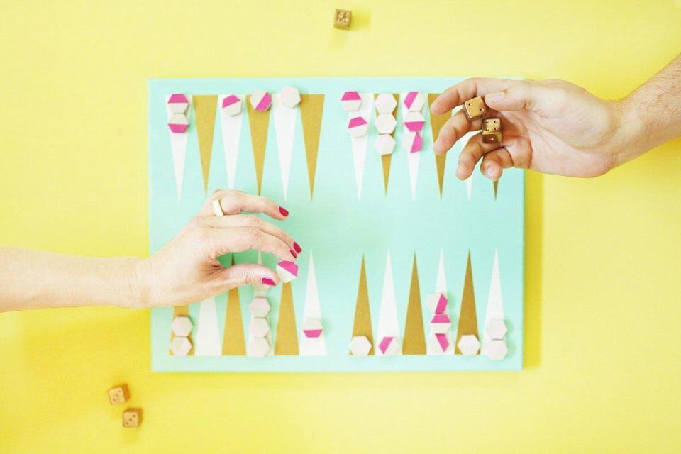 """<p>A time-consuming homemade gift, but dad deserves the extra effort. </p><p><a href=""""https://lovelyindeed.com/diy-backgammon-game/"""" rel=""""nofollow noopener"""" target=""""_blank"""" data-ylk=""""slk:Get the tutorial."""" class=""""link rapid-noclick-resp"""">Get the tutorial.</a> </p>"""