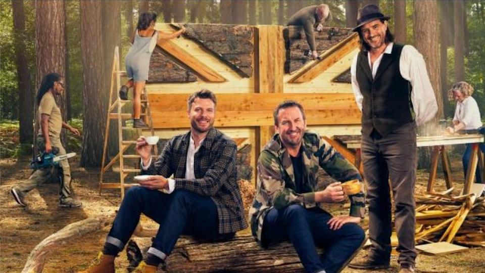 Promotional image for The Chop featuring Rick Edwards, Lee Mack and William Hardie