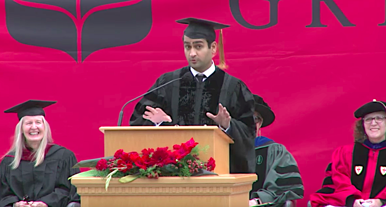 Kumail Nanjiani had a few ideas for Grinnell College'sgraduating class of 2017. (Grinnell College)