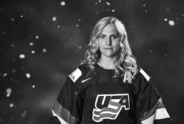 Olympic hockey player Monique Lamoureux. (Photo: Getty Images)
