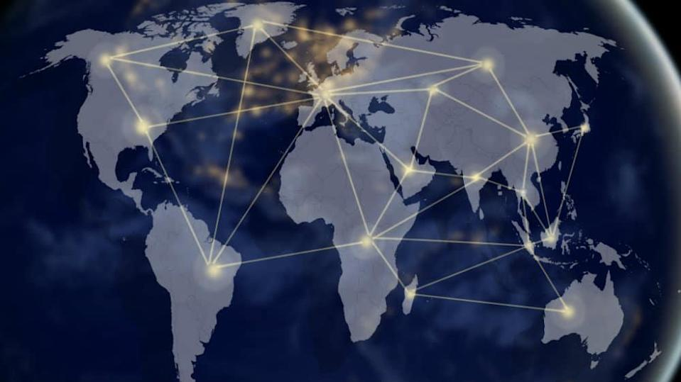 Illustration showing how the world is connected