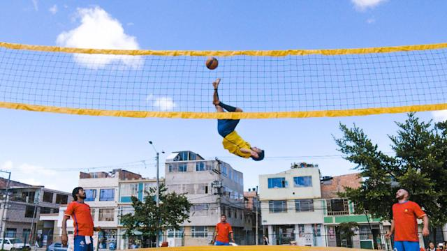 Take the best parts of volleyball, soccer and gymnastics, add a couple trampolines and set the play to a Bossa Nova beat and ... wait, where do we sign up? Bossaball definitely knows how to party, and although the sport is relatively new, it is taking off in countries like Brazil, Singapore, Spain and the Netherlands. In Colombia, it's even helping kids stay off the streets and away from violence. This Great Big Story was made in partnership with Toyota Camry.