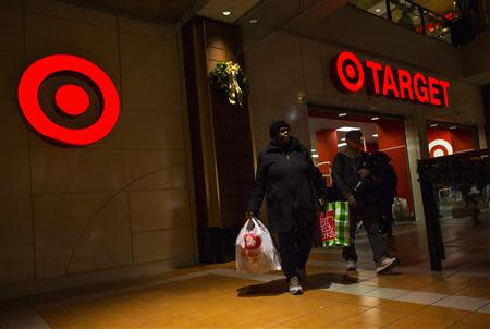 File photo of people shopping at Target store during Black Friday sales in the Brooklyn borough of New York