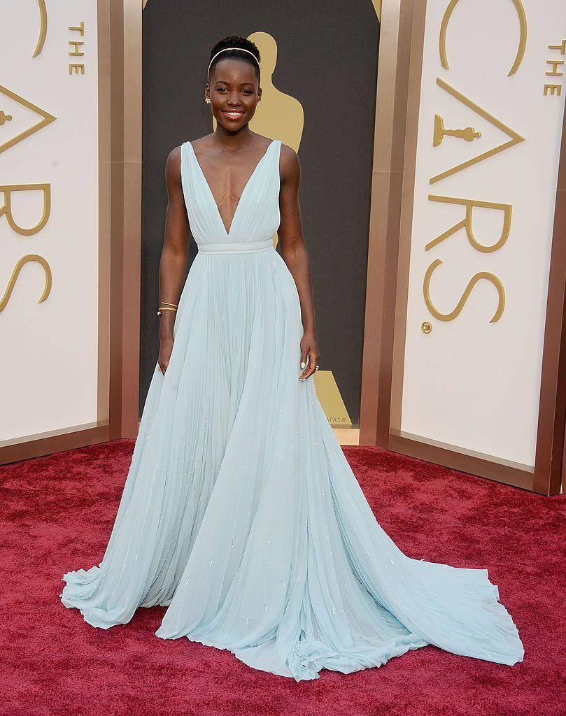 <p>Another memorable dress came thanks to Nyong'o who stunned in a light blue Prada gown at the ceremony, where she also took home the Best Supporting Actress award for her role in 12 Years A Slave.</p>