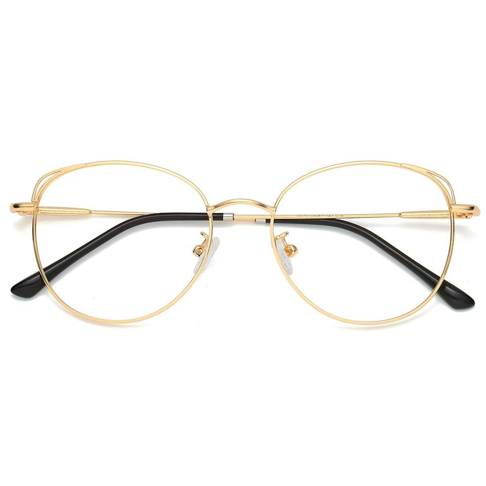 """<h2>SOJOS Cat Eye Blue Light Blocking Glasses</h2><br>We know these aren't sunnies — nor are they under $20! — but they are too good not to include in this roundup. Over 15,000 reviewers vouch for their blue-light-blocking abilities — plus, they're super cute. Samantha Baker, Vice's VP of partnership management, clocked 30 (!) compliments in a single week after she bought them for less than $25 on Amazon — you can check her in-depth review <a href=""""https://www.refinery29.com/en-us/amazon-blue-light-blocking-glasses"""" rel=""""nofollow noopener"""" target=""""_blank"""" data-ylk=""""slk:here"""" class=""""link rapid-noclick-resp"""">here</a>. <br><br><strong>The Hype: </strong>4.4 out of 5 stars and 15,196 reviews<br><br><strong>What They Are Saying: </strong>""""If you're on the fence about snagging a pair, I highly recommend trying these babies out. 'Wellness' comes in all forms, whether it's reduced eye strain brought on by super-power lenses or the simple self-esteem boost of wearing a cool and super-flattering new pair of specs."""" - Samantha Baker<br><br><em>Shop<a href=""""https://amzn.to/3xtJs7D"""" rel=""""nofollow noopener"""" target=""""_blank"""" data-ylk=""""slk:Sojos"""" class=""""link rapid-noclick-resp""""> <strong>Sojos</strong></a></em><br><br><strong>Sojos</strong> SOJOS Cat Eye Blue Light Blocking Glasses Hipster Metal Frame Women Eyeglasses She Young, $, available at <a href=""""https://amzn.to/3cLoJ7q"""" rel=""""nofollow noopener"""" target=""""_blank"""" data-ylk=""""slk:Amazon"""" class=""""link rapid-noclick-resp"""">Amazon</a>"""