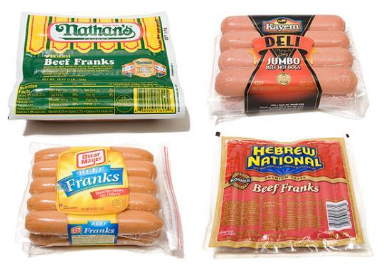 Brands Of Sausages And Hot Dogs