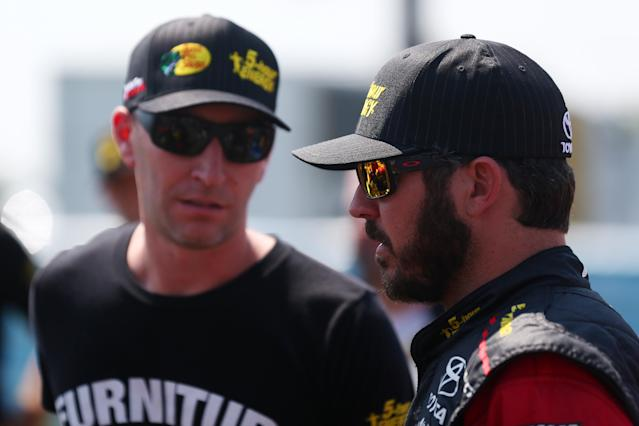 Cole Pearn (L) and Martin Truex Jr. have won 22 races over the past four seasons. (Photo by Sarah Crabill/Getty Images)