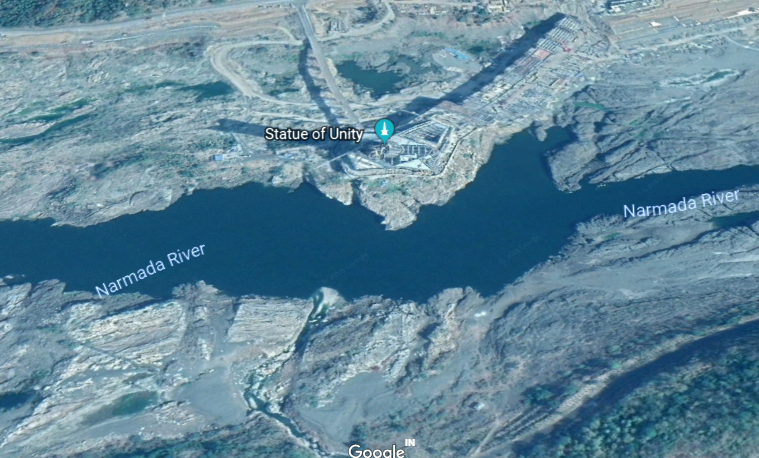 statue of unity google earth