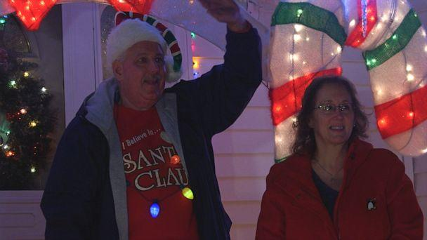PHOTO: James Blake, left, has been decorating his home for 40 years. Him and his wife, Jean Blake, right, also got engaged on Christmas. (ABC News)