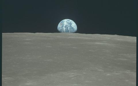 Earth photographed from the surface of the moon - Credit: NASA