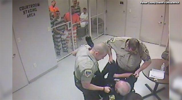 When officers arrived, they saw Gary Grim unconscious, and called paramedics. Source: Parker County Sheriff's Office