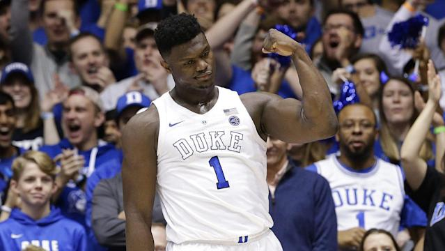 Zion Williamson is averaging 22.3 points and nine rebounds per game this season. (Getty)