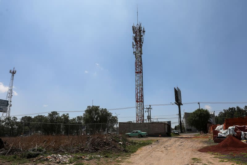 A cellular tower is pictured in Acolman