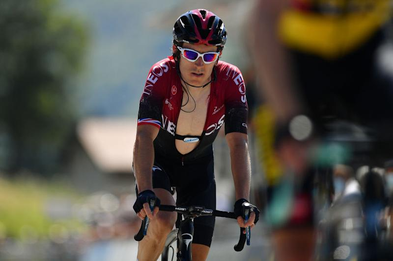 Geraint Thomas (Team Ineos) finishes stage 2 of the 2020 Tour de l'Ain
