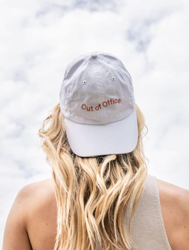 "Kinfield OOO Hat, $28, <a href=""https://kinfield.com/products/ooo-hat-white"" rel=""nofollow noopener"" target=""_blank"" data-ylk=""slk:available here"" class=""link rapid-noclick-resp"">available here</a>. Photo: Courtesy"