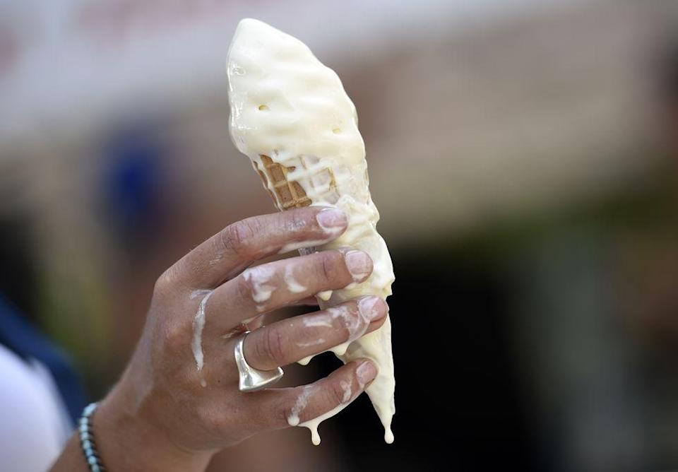 "<p>Not that you'd ever want to, but just in case: Putting an ice cream cone in your back pocket <a href=""https://wgxa.tv/news/local/outdated-and-unusual-georgia-laws"" rel=""nofollow noopener"" target=""_blank"" data-ylk=""slk:on Sundays is illegal in Georgia"" class=""link rapid-noclick-resp"">on Sundays is illegal in Georgia</a>. OK!</p>"