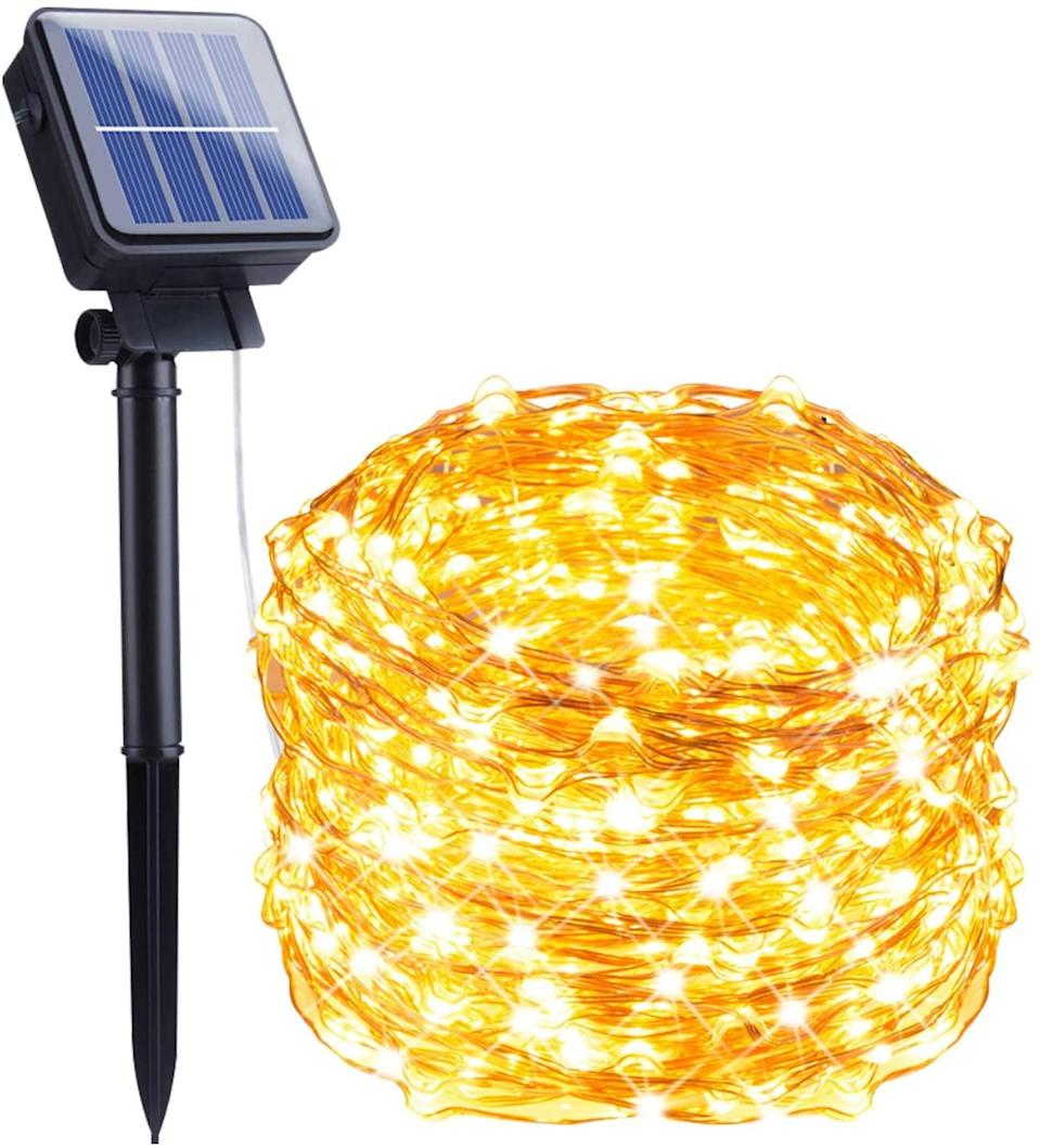 <p>Create the most whimsical backyard with this <span>Outdoor Solar String Lights</span> ($7). It's 33-feet long with eight lighting modes and it's waterproof.</p>