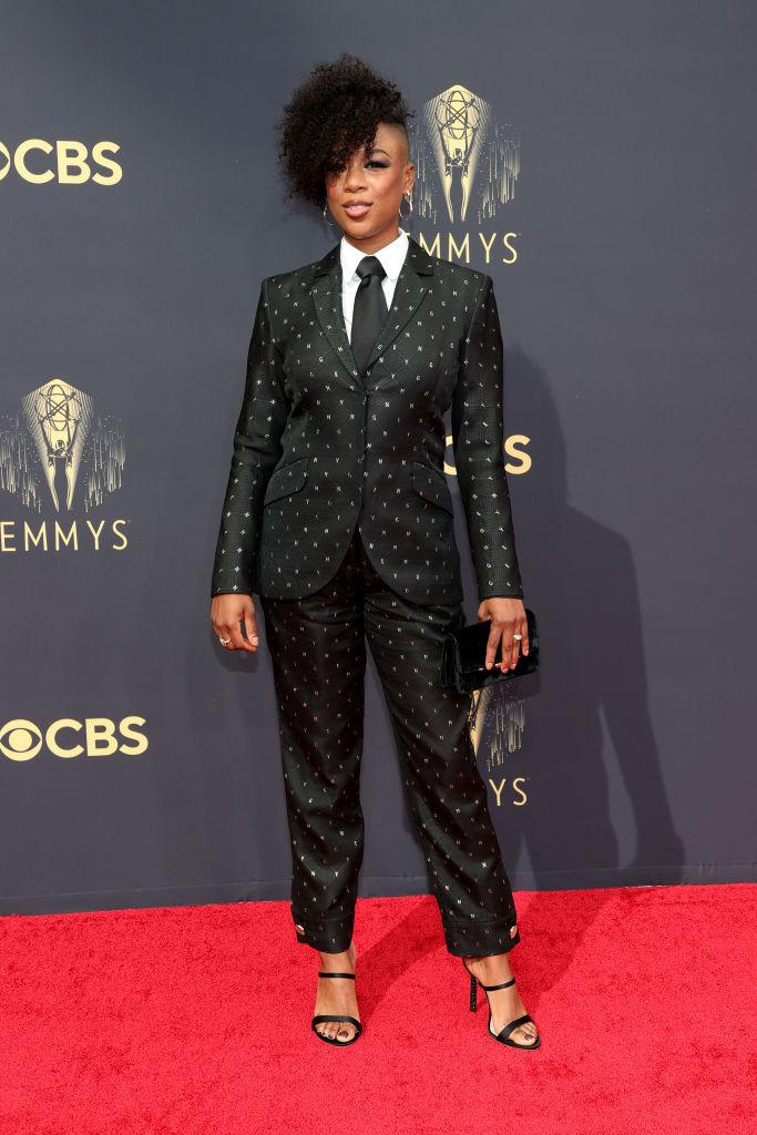 Samira Wiley attends the 73rd Primetime Emmy Awards on Sept. 19 at L.A. LIVE in Los Angeles. (Photo: Rich Fury/Getty Images)