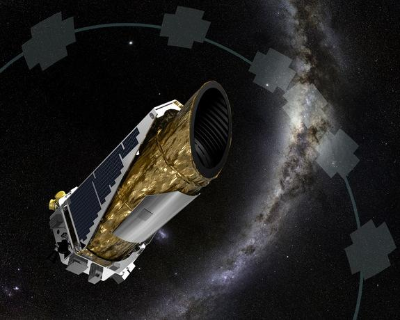 An artist's illustration depcits NASA's planet-hunting Kepler spacecraft working in a new mission profile called K2. Astronomers have used publicly available data to confirm K2's first exoplanet discovery, proving Kepler can still locate planet