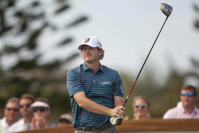 Brandt Snedeker follows his drive off the third tee during the first round of the Tournament of Champions golf tournament, Friday, Jan. 3, 2014, in Kapalua, Hawaii. (AP Photo/Marco Garcia)
