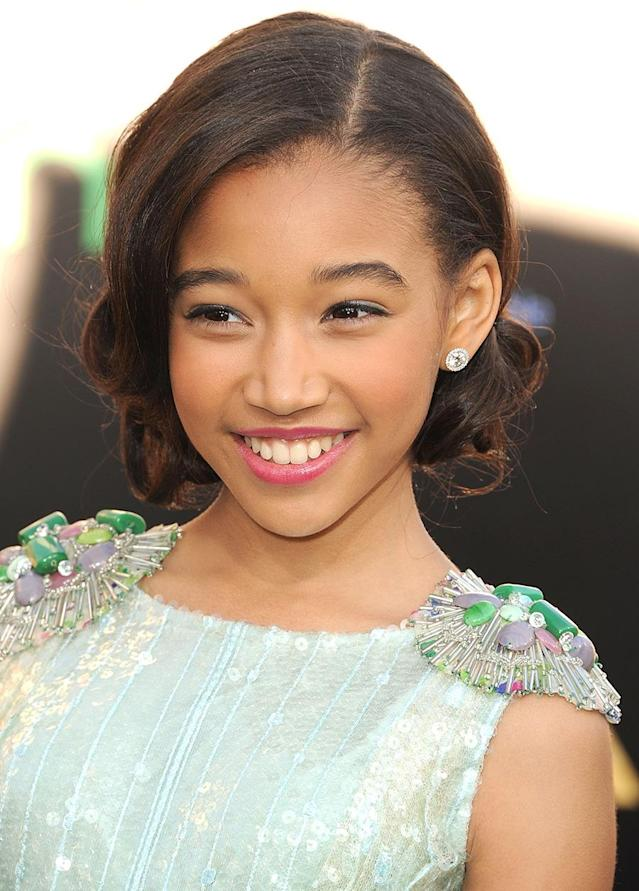 <p>Amandla Stenberg attends <em>The Hunger Games</em> Los Angeles Premiere on March 12, 2012. (Photo: Steve Granitz/WireImage) </p>
