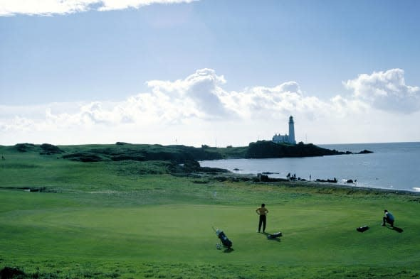The Westin Turnberry Resort along the coastline of Turnberry in Strathclyde.