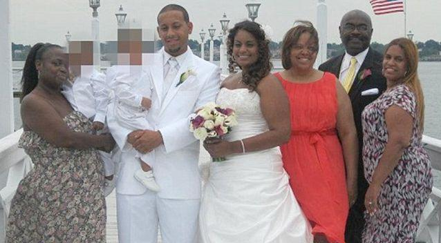 Nicole Diggs and Oscar Thomas were married in July 2012, just three weeks after the death of Diggs' eight-year-old daughter. Photo: Facebook