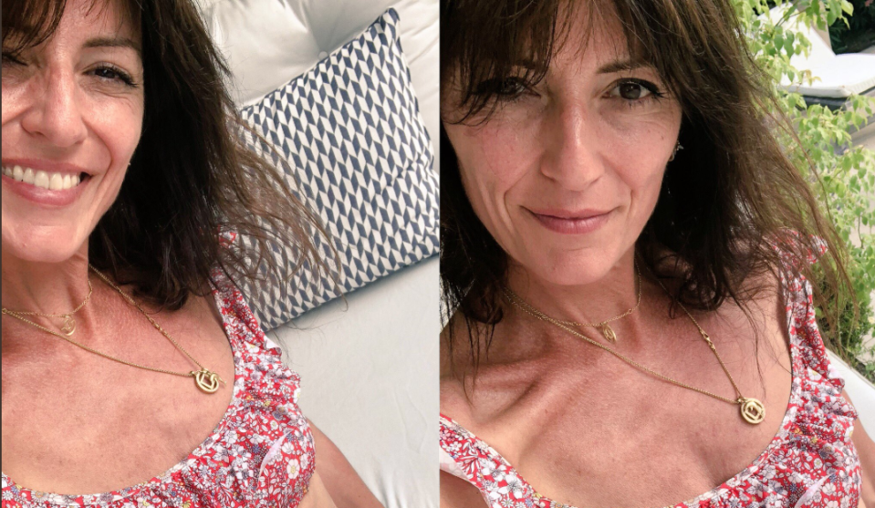 Davina McCall has responded to recent controversy about her weight by posting telling comparison shot. [Photo: Instagram]