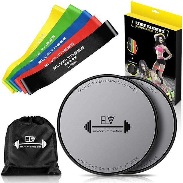 ELV Home & Personal Resistance Loop Bands and Exercise Sliders