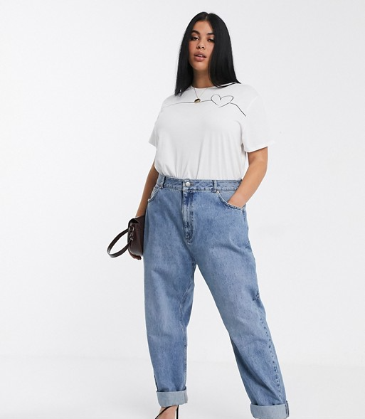 "<br><br><strong>ASOS DESIGN</strong> Curve High Rise Slouchy Mom Jeans, $, available at <a href=""https://go.skimresources.com/?id=30283X879131&url=https%3A%2F%2Fwww.asos.com%2Fus%2Fasos-curve%2Fasos-design-curve-high-rise-slouchy-mom-jeans-in-midwash%2Fprd%2F12978767%3Fcolourwayid%3D16484207%26SearchQuery%3D%26cid%3D9577"" rel=""nofollow noopener"" target=""_blank"" data-ylk=""slk:ASOS"" class=""link rapid-noclick-resp"">ASOS</a>"