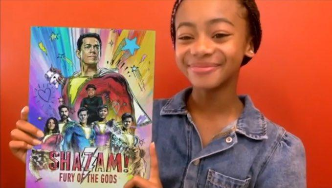 Faithe Herman reveals the subtitle for 'Shazam! Fury of the Gods'. (Credit: DC FanDome)