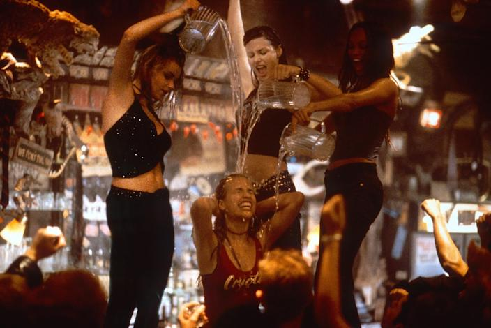 Piper Perabo, Izabella Miko, Bridget Moynahan and Tyra Banks in a scene from <em>Coyote Ugly</em>. (Photo: Frank Masi / © Buena Vista Pictures / courtesy Everett Collection)