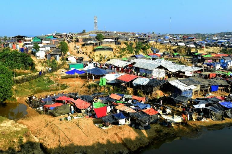 The Kutupalong refugee camp in Bangladesh -- one of several housing Muslim Rohingya who have fled Myanmar
