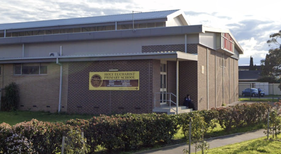 Holy Eucharist Primary School is pictured. A Year 2 class at the St Albans school in Melbourne has been isolated after a classmate tested positive to coronavirus.