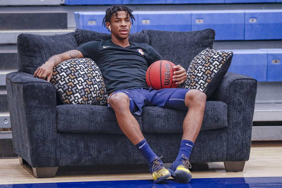 Ja Morant has arrived in basketball's big gym. (Getty Images)