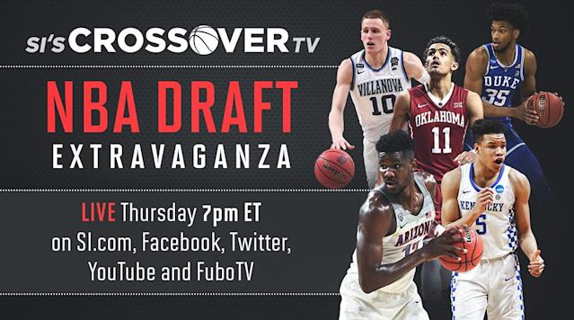 Join Sports Illustrated during the NBA draft on Thursday, June 21, as they bring you the Crossover TV NBA Draft Extravaganza.
