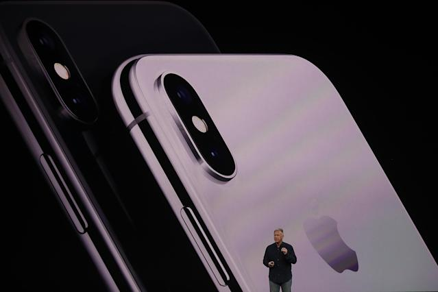 <p>The iPhone X will be available in Silver or Space Gray. (Photo by Justin Sullivan/Getty Images) </p>