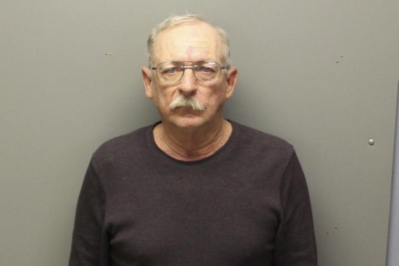 This booking photo provided by Franklin County, Missouri, Sheriff's Department shows Kirby King. Authorities announced murder charges Friday, Dec. 27, 2019 against King in the 1987 killing of a young Missouri woman who was found dead near a highway with her hands tied to a rope around her neck.  (Franklin County, Missouri, Sheriff's Department via AP)