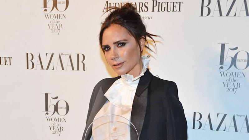 Victoria Beckham Sports Leg Brace and Crutches After Suffering a Small Stress Fracture