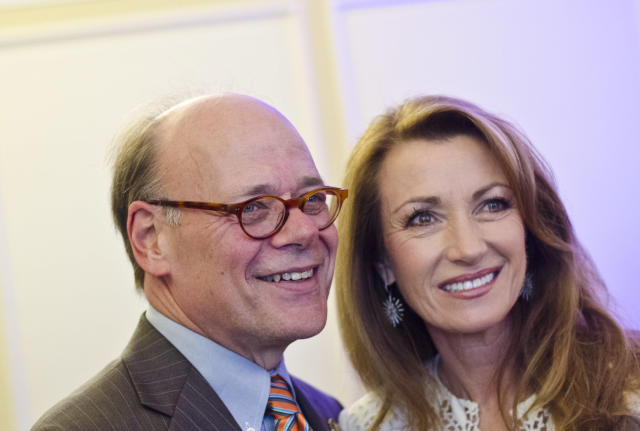 Rep. Steve Cohen with actor Jane Seymour at an event for the Alzheimer's Association. (Getty)