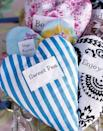 <p>Freshen up drawers with heart-shaped sachets. Cut two heart shapes out of your favorite fabric, place printed sides facing each other, and sew edges, leaving space to add filling. Then fill with potpourri, stitch up, and enjoy!</p>
