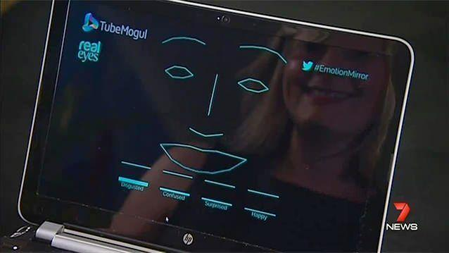 Using the camera in your personal device, the new facial recognition software interprets your emotions by mapping the minute movements of your eyes, mouth and brow. Photo: 7News