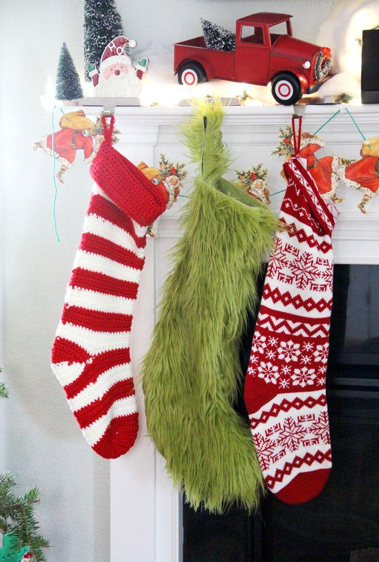 "<p>This shaggy green stocking is fit for the Grinch himself! Thanks to these simple instructions from Sewing Rabbit, you can enjoy a very ""hairy"" Christmas.</p><p><strong>Get the tutorial at <a href=""https://mesewcrazy.com/2015/12/grinch-stocking-diy.html"" rel=""nofollow noopener"" target=""_blank"" data-ylk=""slk:Sewing Rabbit"" class=""link rapid-noclick-resp"">Sewing Rabbit</a>.</strong> </p><p><strong><a class=""link rapid-noclick-resp"" href=""https://www.amazon.com/Faux-Fake-Mongolian-Fabric-OLIVE/dp/B017AKRZXC/ref=sr_1_6?dchild=1&keywords=green+fur&qid=1603062241&sr=8-6&tag=syn-yahoo-20&ascsubtag=%5Bartid%7C10050.g.28982778%5Bsrc%7Cyahoo-us"" rel=""nofollow noopener"" target=""_blank"" data-ylk=""slk:SHOP GREEN FUR"">SHOP GREEN FUR </a><br></strong></p>"