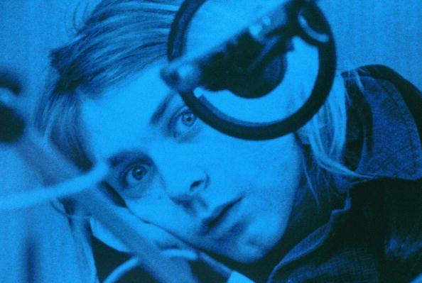 <p>Kurt Cobain recording in Hilversum Studios in the Netherlands in 1991. His early musical influences as a child were The Beatles and 1970s hard rock and metal bands.</p>